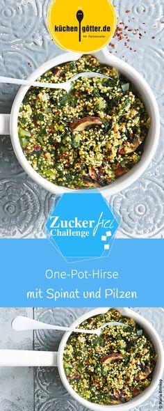 Fans der einfachen & schnellen Küche aufgepasst: herzhafter Hirse-One-Pot mit aromatischen Pilzen und Spinat! Das Rezept dazu findet ihr bei uns!