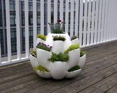 cool balcony herb garden