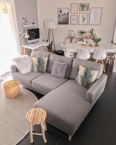 Small Apartment Living, Home Living Room, Living Room Decor, Small Living, Cozy Living, Modern Living, Bedroom Apartment, Living Room Color Schemes, Living Room Colors
