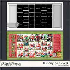 Sweet Shoppe Designs :: Templates & Tools :: Layout Templates :: 2 Many Photos 95 by Janet Phillips Birthday Scrapbook Layouts, Christmas Scrapbook Layouts, Scrapbook Layout Sketches, Pocket Scrapbooking, Baby Scrapbook, Scrapbook Paper Crafts, Scrapbook Albums, Scrapbooking Layouts, Scrapbook Cards