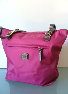 4805f5953c53 Items similar to Brics Fuschia Nylon Tote Bag on Etsy