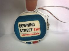Macaroon Coin Purse London Downing Street by TheHomemadeHaven, £14.00
