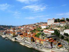 Portugal Houses Sky Porto Cities