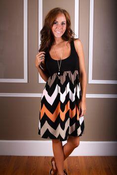 Pastel Racerback Chevron Dress