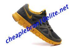 36dbf16bb6de Grey Yellow Nike Free Run 2 Mens Brown 540244 070