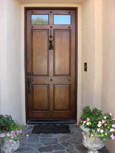 Faux wood painted exterior door