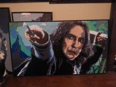 "Severus Snape (17""x 26"")  - Harry Potter perler bead sprite by snaggmouth"