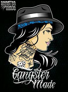 Mexican Donna T-SHIRT EL Diablito CARD Rockabilly Satana Biker Muertos