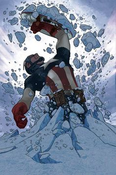 """Captain America #25 by Adam Hughes ... it'd be remiss if I didn't include the obligatory """"polar ice Cap."""""""