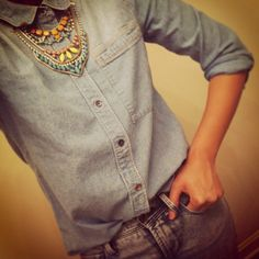 Canadian Tux.. Denim on denim with a bit of bling..