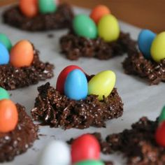No bake cookies with chocolate egg toppers super cute and easy