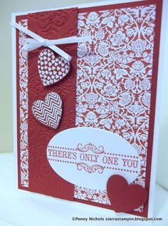 Really pretty Valentine's Day card using new SU products!  Sierra Stampin!