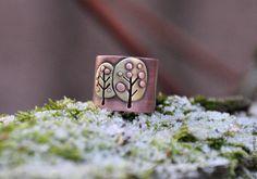 "Handmade copper ring ""Apple tree"" / Кольцо ""Яблоньки"" из меди и латуни — работа…"