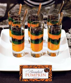 • 1 box Jello Instant Vanilla Pudding Mix  • 2 cups milk (as called for on the pudding box)  • 1/8 tsp Pumpkin Pie Spice*  • Orange Gel Food Coloring  • Oreo Cookies, crushed  • Green Nonpareils