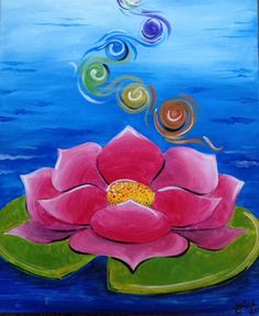 Reminds me of chakra work Wine Painting, Easy Canvas Painting, Diy Canvas Art, Acrylic Canvas, Mini Canvas, Buddha Canvas, Rock Painting Designs, Painting Inspiration, Watercolor Flowers
