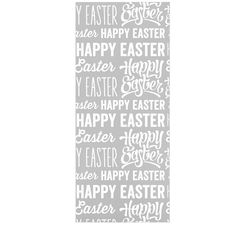 """KESS Original """"Happy Easter"""" Gray White Luxe Rectangle Panel"""
