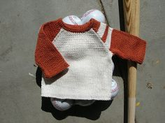 Baby's Baseball Sweater | AllFreeKnitting.com