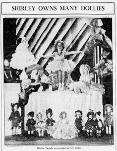 January 1935 Shirley Owns Many Dolllies