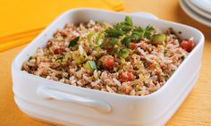 cinco receitas de tabule, inclusive com arroz