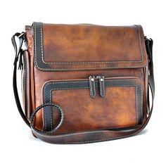 Pratesi Elba Leather Satchel, Brown BBW121