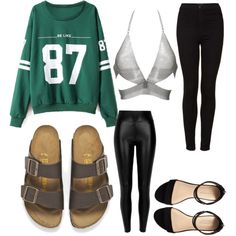 Untitled #386 by evanmonster on Polyvore featuring polyvore fashion style Fannie Schiavoni River Island Topshop Carvela Birkenstock