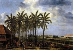 BEECKMAN, Andries (active 1651-57 Dutch East Indies)   Click! The Castle of Batavia, Seen from Kali Besar West  c. 1656 Oil on canvas, 108 x 152 cm Rijksmuseum, Amsterdam  Dutch expansion overseas was in both directions, eastward and westwards. In particular, it was the establishment of the Dutch East India Company (VOC) in 1602 and the Dutch West India Company (WIC) in 1621, each with clearly demarcated areas of activity, that caused the number of Dutch overseas territories to increase…