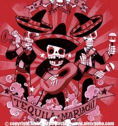 Skeleton Mariachi por Aleix Gordo by Aleix Gordo Hostau