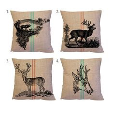 Don't forget about comfort - these deer pillows add a touch of softness to the rugged muskoka chair. Perfect for bonfire use. {via Etsy}