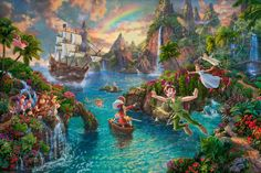 Disney Peter Pan's Neverland by Thomas Kinkade