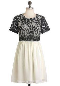 Modcloth Ivory Lacy Thing is Magic dress Small Never worn So cute when styled with a belt, necklace and heels!