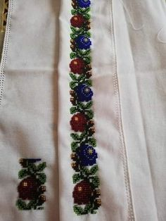 Veronica, Floral Tie, Macrame, Projects To Try, Embroidery, Bead Necklaces, Crossstitch, Floral Lace, Needlepoint