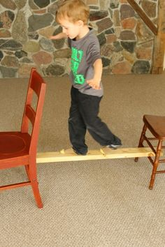 Such an awesome indoor balance beam for toddlers