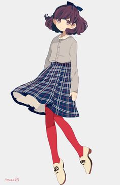 Sure this is an illustration but I like this color combination and the choice to go bold with the tights.