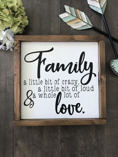 Wood sign family sign farmhouse style rustic home decor wall hanging galler Family Wood Signs, Diy Wood Signs, Rustic Wood Signs, Pallet Signs, Signs About Family, Fence Signs, Family Wall Decor, Rustic Decor, Farmhouse Signs