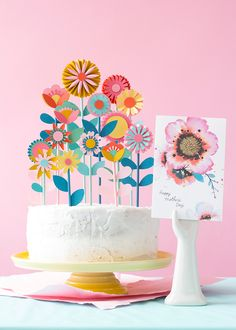 Mother's day floral cake topper - The House That Lars Built