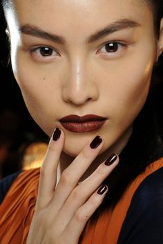 We love matchy-matchy lips and nails – in fact, we'd even go all out with head-to-toe monotone!