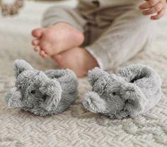 Nursery Fur Animal Slippers | Pottery Barn Kids. Elephant Slippers :)