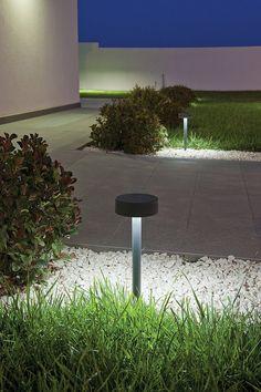 bollard, grass, pathway