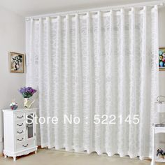 Free shipping 140*260CM luxury clipping linen ready made window screening sheer curtain tulle curtain