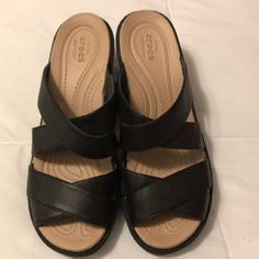 bd5c837bb0df Shop Women s CROCS Black size 9 Sandals at a discounted price at Poshmark.  Description  Never worn black crocs size Sold by lprchal.