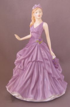 Royal Doulton Porcelain Flower of the Month FEBRUARY VIOLET Figurine HN 5501.