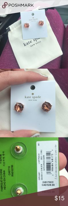 NWT Kate Spade Earrings Brand new earrings from Kate Spade!! They are a rose gold/copper color. Beautiful to wear casually or to dress up. kate spade Jewelry Earrings