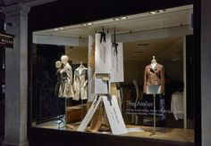 "Karen Millen window display for ""The Atelier"", in Selfridges,""Please Read The Label"" pinned by Ton van der Veer"