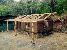 Excited to get a roof over head before the Costa Rican rainy season hits this cob veterinary clinic that I've been building for about 10 months now || Jeremy Aaron Mich || Facebook