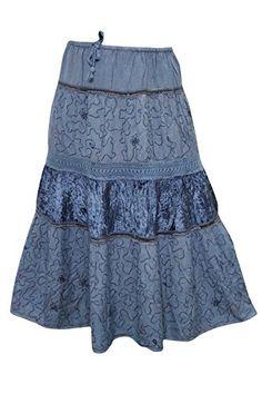 Hippie Skirts, Bohemian Skirt, Gypsy Skirt, Boho Gypsy, Bohemian Style, Bohemian Fashion, Boho Chic, Boho Girl, Blue Lace