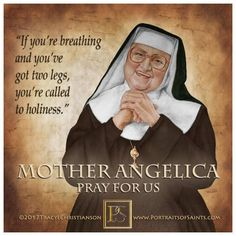 Mother Angelica quote on holiness Catholic Memes, Catholic Prayers, Catholic Saints, Roman Catholic, Lent Quotes Catholic, Catholic Marriage, Mother Angelica, Mother Teresa, Spirituality