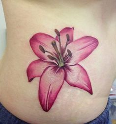 Delicate Pink Orchid Tattoo
