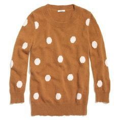 Spotted Snowfall Sweater - MUST GET THIS! I love the polka dots and the camel color!