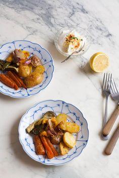 Ophelie's kitchen book: LÉGUMES RÔTIS & CRÈME AU CITRON