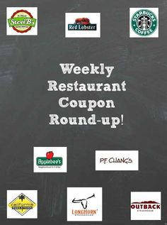 Weekly Restaurant Coupons for this week are ready!! Quiznos, Bob Evans, Starbucks, Outback, Stevi B's, and more!